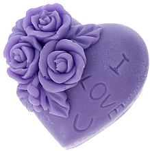 "Parfumuri și produse cosmetice Săpun natural ""I love you"", violet - LaQ Happy Soaps"