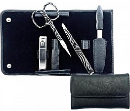 """Parfumuri și produse cosmetice Set manichiură """"Black"""", 4 piese - Credo Solingen Luxurious Manicure Set 4 pcs. Set"""
