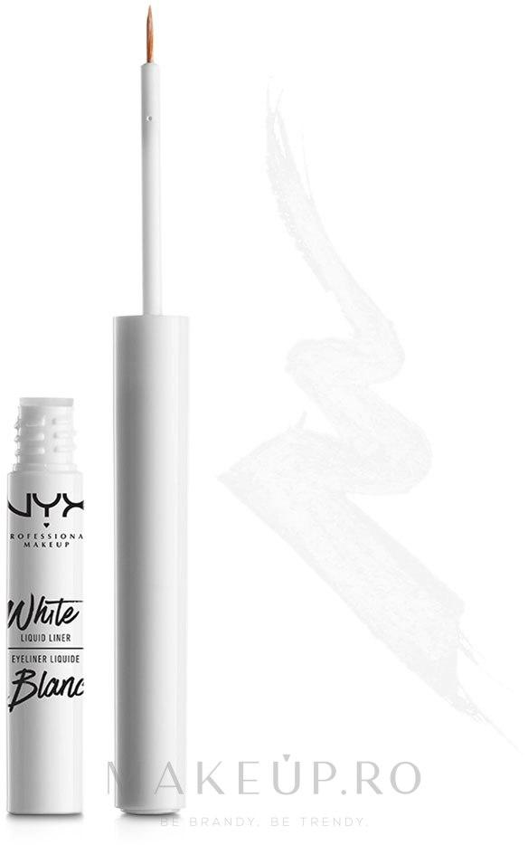 Eyeliner lichid - NYX Professional Makeup White Liquid Liner — Imagine WLL 01 - White Blanc