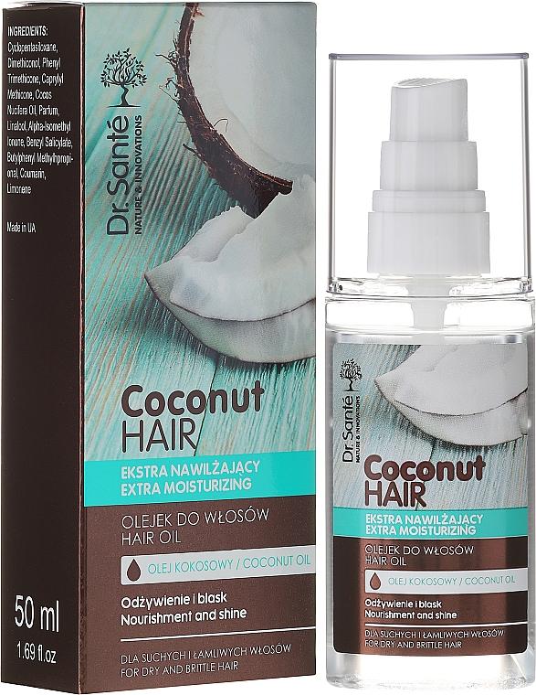 "Ulei de păr ""Nutriție și strălucire"" - Dr. Sante Coconut Hair"