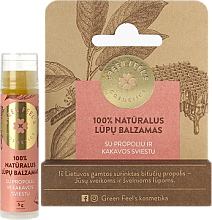 Parfumuri și produse cosmetice Balsam de buze, cu propolis și unt de cacao - Green Feel's Natural Lip Balm