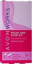 Parfumuri și produse cosmetice Benzi pentru epilare - Avon Works For Face & Brown
