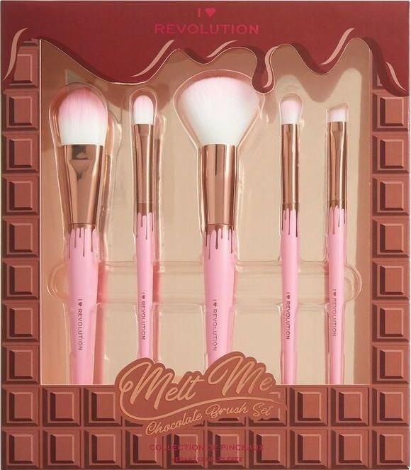 Set pensule pentru machiaj - I Heart Revolution Chocolate Brush Set