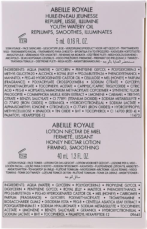 Set - Guerlain Abeille Royale Age-Defying Programme (f/oil/5ml + f/lot/40ml + f/d/cr/50ml + eye/cr/3ml + bag) — Imagine N8