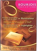 Pudră compactă pentru față - Bourjois Delice De Poudre Bronzing Duo Powder + Highlighter — Imagine N1