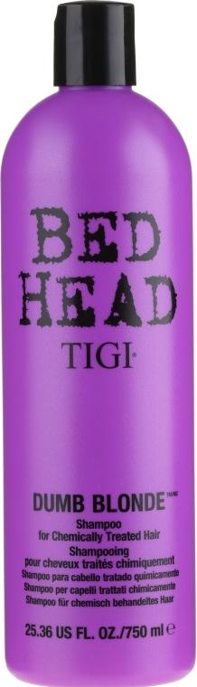 Șampon pentru păr decolorat și deteriorat - Tigi Bed Head Dumb Blonde Shampoo — Imagine N3