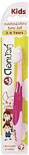 Parfumuri și produse cosmetice Periuță de dinți ultra-moale pentru copii, roz - Twin Lotus Dok Bua Ku Kids Toothbrush ExtraSoft