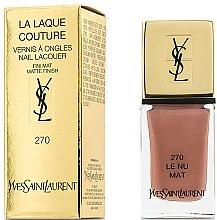 Parfumuri și produse cosmetice Lac mat pentru unghii - Yves Saint Laurent La Laque Couture The Mats