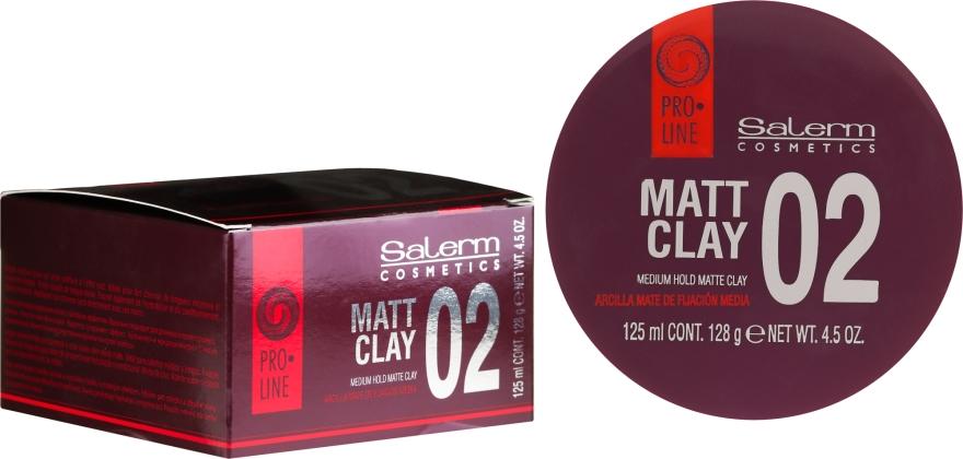 Pomadă matifiantă pentru păr - Salerm Pro Line Matt Clay — Imagine N1