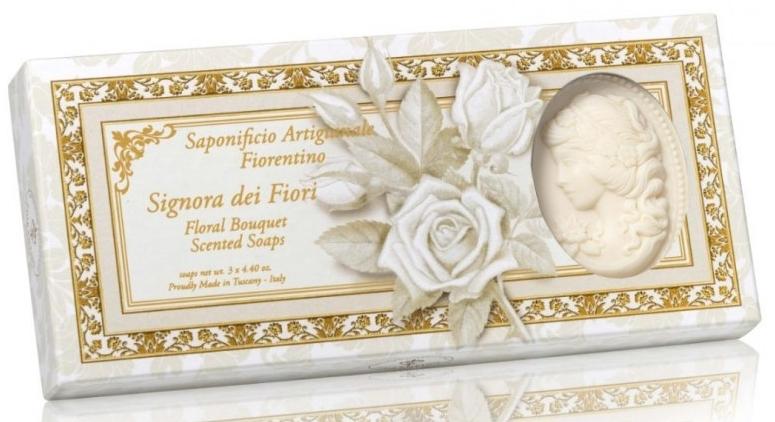 Set săpunuri naturale - Saponificio Artigianale Floral Bouquet Soap (soap/3pcsx125g)