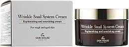 Parfumuri și produse cosmetice Cremă anti-îmbătrânire pe bază de mucină de melc - The Skin House Wrinkle Snail System Cream