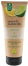 """Parfumuri și produse cosmetice Lapte pentru corp """"Lămâie și Lime"""" - Aura Naturals Lemon & Lime Body Milk"""