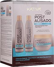 Parfumuri și produse cosmetice Set - Kativa Straightening Post Treatment Keratin (shm/250ml + cond/250ml + mask/250ml)