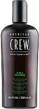 """Parfumuri și produse cosmetice Soluție pentru îngrijirea părului și corpului 3 în 1 """"Arbore de ceai"""" - American Crew Tea Tree 3-in-1 Shampoo, Conditioner and Body Wash"""