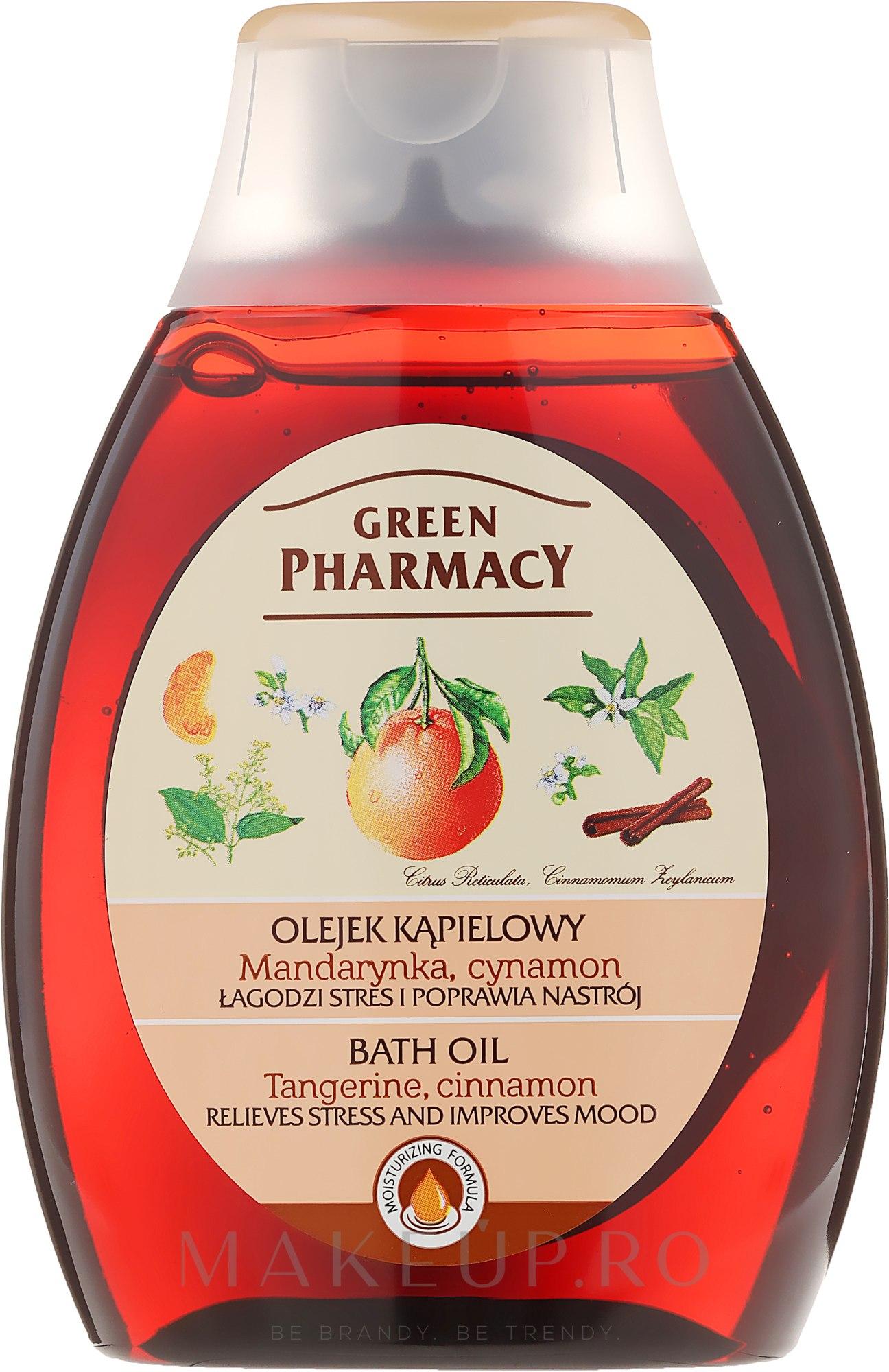 "Ulei pentru baie și duș ""Mandarin și scorțișoară"" - Green Pharmacy — Imagine 250 ml"
