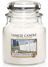 Lumânare aromată, în borcan - Yankee Candle Clean Cotton — Imagine N1