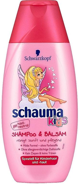 """Șampon și balsam """"Îngrijire blândă și delicată"""" - Schwarzkopf Schauma Kids Shampoo"""