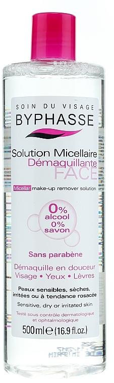 Apă micelară pentru curățarea feței - Byphasse Micellar Make-Up Remover Solution Sensitive, Dry And Irritated Skin