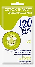 Parfumuri și produse cosmetice Mască matifiantă pentru curățarea tenului - Under Twenty Anti! Acne Detox & Matt Face Mask