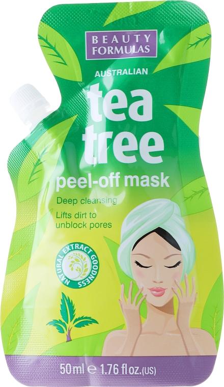 Mască-peeling pentru față - Beauty Formulas Tea Tree Peel-Off Mask