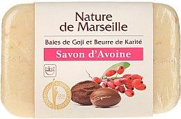 Parfumuri și produse cosmetice Săpun de ovăz cu miros de boabe de goji și unt de shea - Nature de Marseille Soap