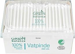 Parfumuri și produse cosmetice Bețișoare din bumbac, 200 bucăți - Gron Balance