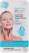 Parfumuri și produse cosmetice Gel patch-uri sub ochi - Dermo Pharma 4D Moisturizing & Refreshing Gel Patches