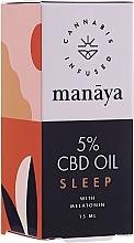 Parfumuri și produse cosmetice Ulei de cânepă îmbogățit cu melatonină - Manaya 5 % CBD Oil Sleep With Melatonin