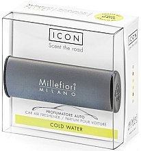 "Parfumuri și produse cosmetice Aromatizator auto ""Classic: apă rece"" - Millefiori Milano Icon Car Air Freshener Cold Water"