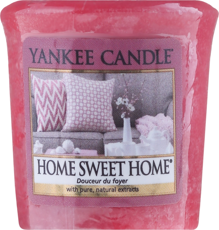 "Lumânare parfumată ""Home Sweet Home"" - Yankee Candle Scented Votive Home Sweet Home — Imagine N1"