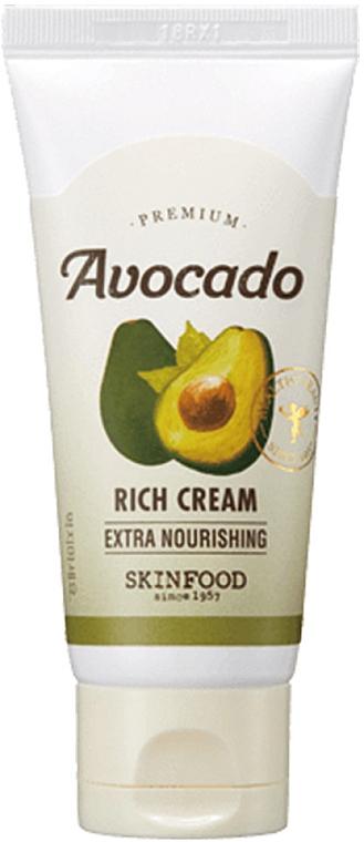 Cremă cu extract de avocado pentru pielea uscată - SkinFood Premium Avocado Rich Cream — Imagine N1