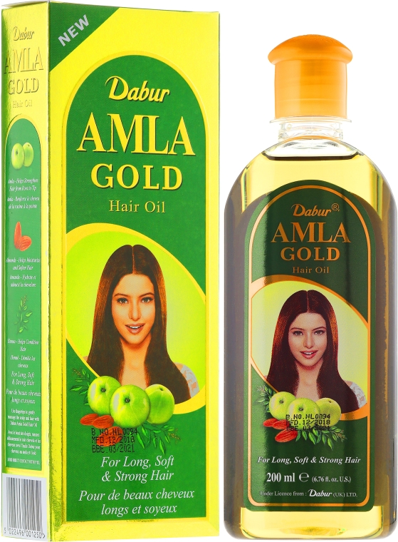 "Ulei pentru păr ""Auriu"" - Dabur Amla Gold Hair Oil"