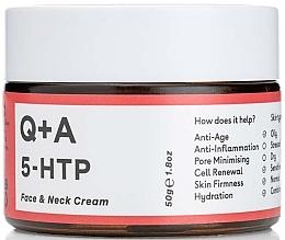 Parfumuri și produse cosmetice Cremă pentru față și gât - Q+A 5-HTP Face & Neck Cream
