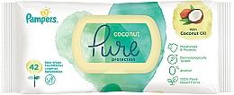 Parfumuri și produse cosmetice Șervețele umede pentru copii, 42 buc - Pampers Pure Coconut