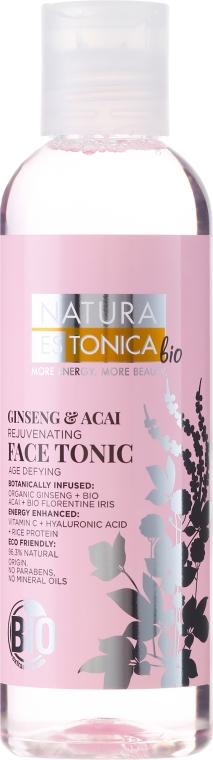 Tonic pentru reînnoirea feței Ginseng și Asai - Natura Estonica Ginseng & Acai Face Tonic
