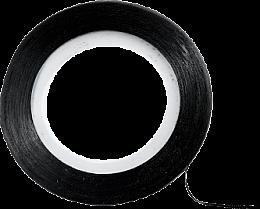 Parfumuri și produse cosmetice Bandă decorativă pentru unghii, neagră - Peggy Sage Decorative Nail Stickers Noir