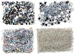Parfumuri și produse cosmetice Set de glitter, argintiu - Peggy Sage Nail Glitter Mini Kit Argent