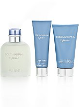 Dolce & Gabbana Light Blue Pour Homme - Set (edt 125 + sh/g 50 + a/sh balm 75) — Imagine N5