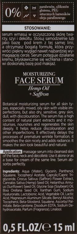 Ser hidratant pentru față - Bielenda Botanic Formula Hemp Oil + Saffron Moisturizing Serum — Imagine N3