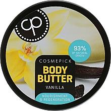 Parfumuri și produse cosmetice Unt regenerant cu extract de vanilie pentru corp - Cosmepick Body Butter Vanilla