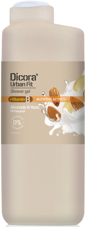 """Gel de duș cu vitamina B """"Migdale și lapte"""" - Dicora — Imagine N1"""