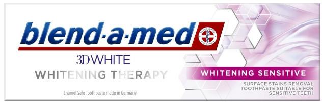 """Pastă de dinți """"Înălbire pentru dinți sensibili"""" - Blend-a-Med 3D White Whitening Therapy Sensitive — Imagine N2"""