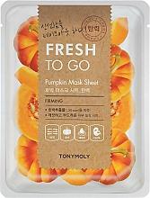 Parfumuri și produse cosmetice Mască de țesut cu extract de dovleac - Tony Moly Fresh To Go Mask Sheet Pumpkin