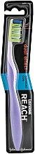 Parfumuri și produse cosmetice Periuță de dinți dură, violetă - Listerine Reach Dual Effect Soft