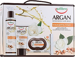 Parfumuri și produse cosmetice Set - Equilibra Viso Argan (micel/water/200ml + wipes/25pcs + f/cr/75ml)