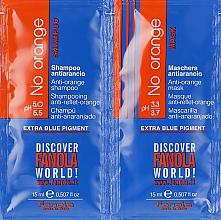 Parfumuri și produse cosmetice Set mostre - Fanola No Orange (shm/15ml + mask/15ml)