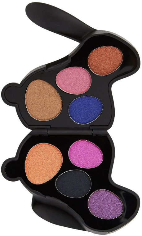 Paletă de farduri de ochi - I Heart Revolution Bunny Liquorice Palette