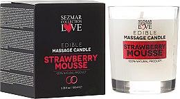 """Parfumuri și produse cosmetice Lumânare naturală pentru masaj """"Căpșună"""" - Sezmar Collection"""