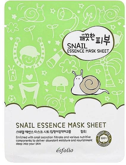 Mască din țesătură cu melc - Esfolio Pure Skin Snail Essence Mask Sheet — Imagine N1