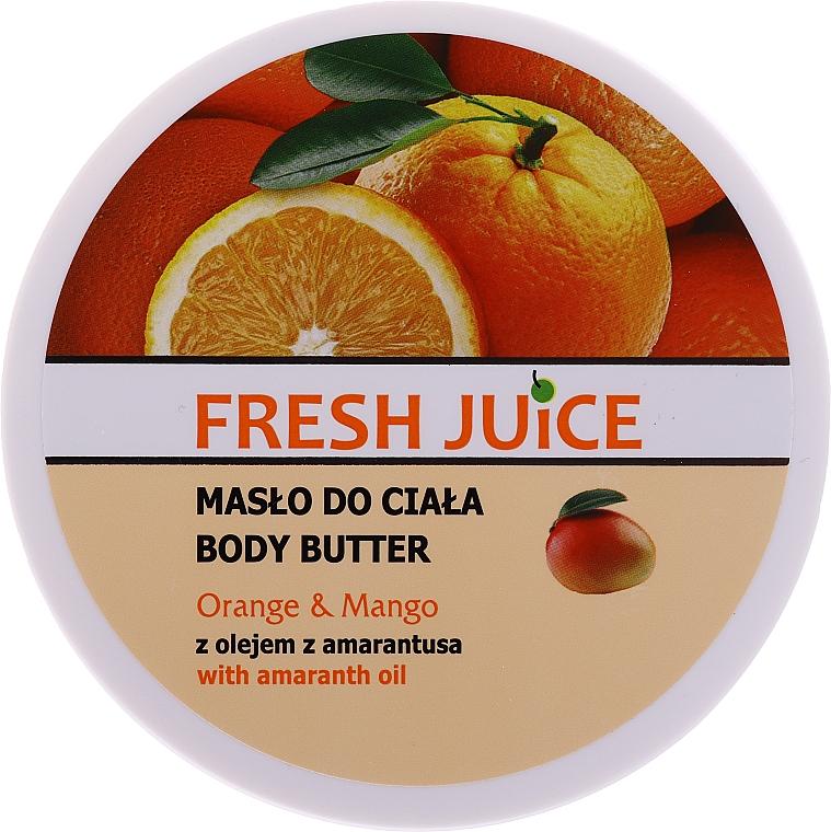 """Cremă cu ulei de amarant """"Portocală și Mango"""" - Fresh Juice Orange & Mango — Imagine N4"""